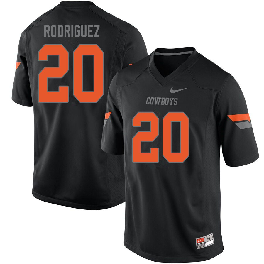 Men #20 Malcolm Rodriguez Oklahoma State Cowboys College Football Jerseys Sale-Black