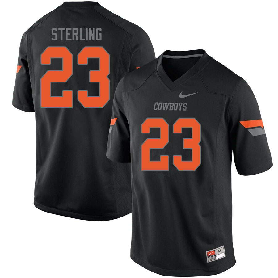 Men #23 Tre Sterling Oklahoma State Cowboys College Football Jerseys Sale-Black