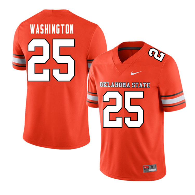 Men #25 Andre Washington Oklahoma State Cowboys College Football Jerseys Sale-Alternate Orange