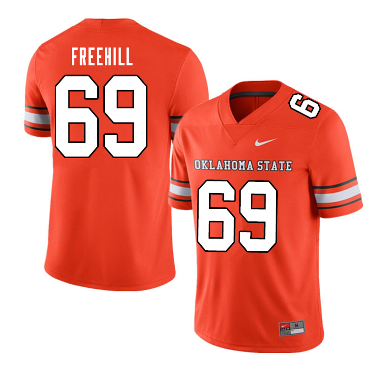 Men #69 Ben Freehill Oklahoma State Cowboys College Football Jerseys Sale-Alternate Orange