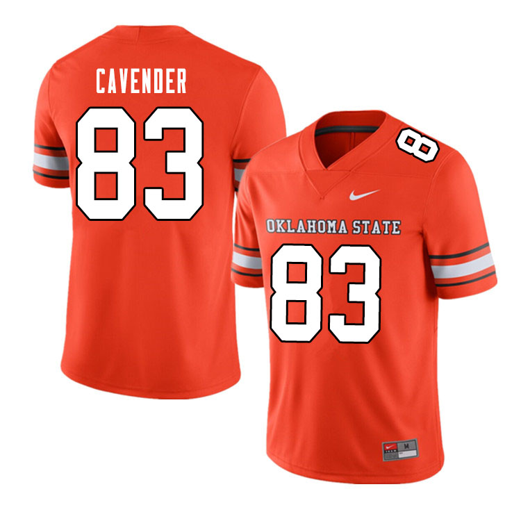 Men #83 Cade Cavender Oklahoma State Cowboys College Football Jerseys Sale-Alternate Orange