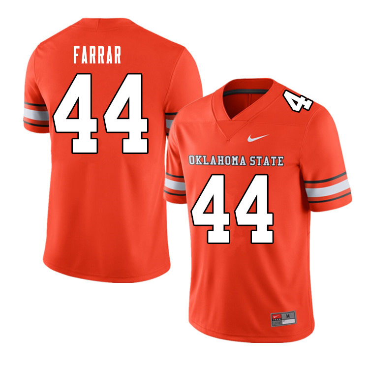 Men #44 Kamryn Farrar Oklahoma State Cowboys College Football Jerseys Sale-Alternate Orange