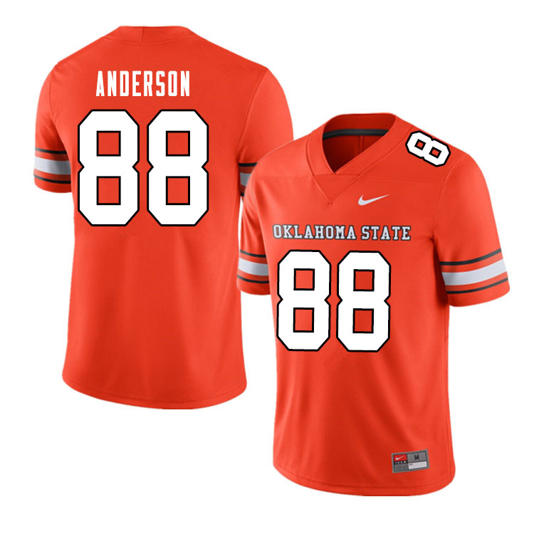 Men #88 Langston Anderson Oklahoma State Cowboys College Football Jerseys Sale-Alternate Orange
