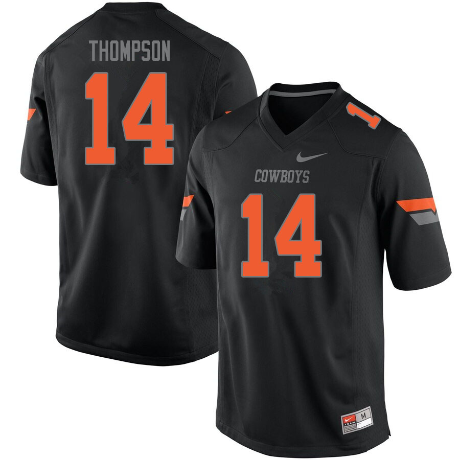 Men #14 Peyton Thompson Oklahoma State Cowboys College Football Jerseys Sale-Black