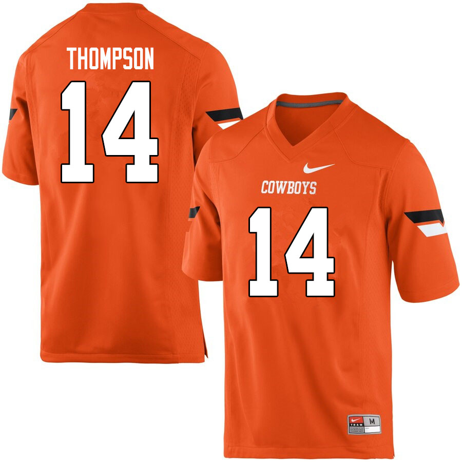 Men #14 Peyton Thompson Oklahoma State Cowboys College Football Jerseys Sale-Orange