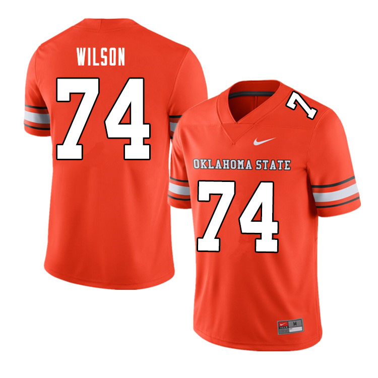 Men #74 Preston Wilson Oklahoma State Cowboys College Football Jerseys Sale-Alternate Orange
