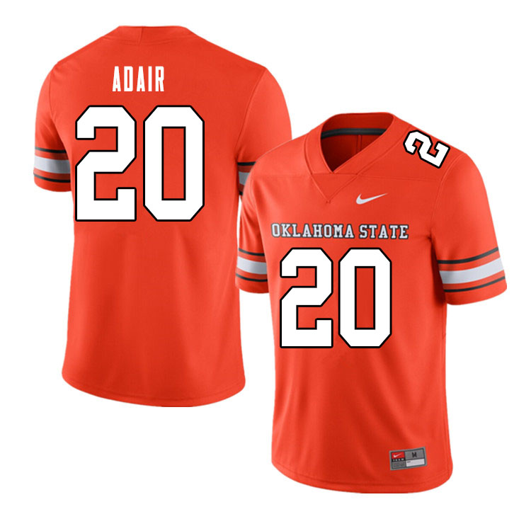 Men #20 Schyler Adair Oklahoma State Cowboys College Football Jerseys Sale-Alternate Orange