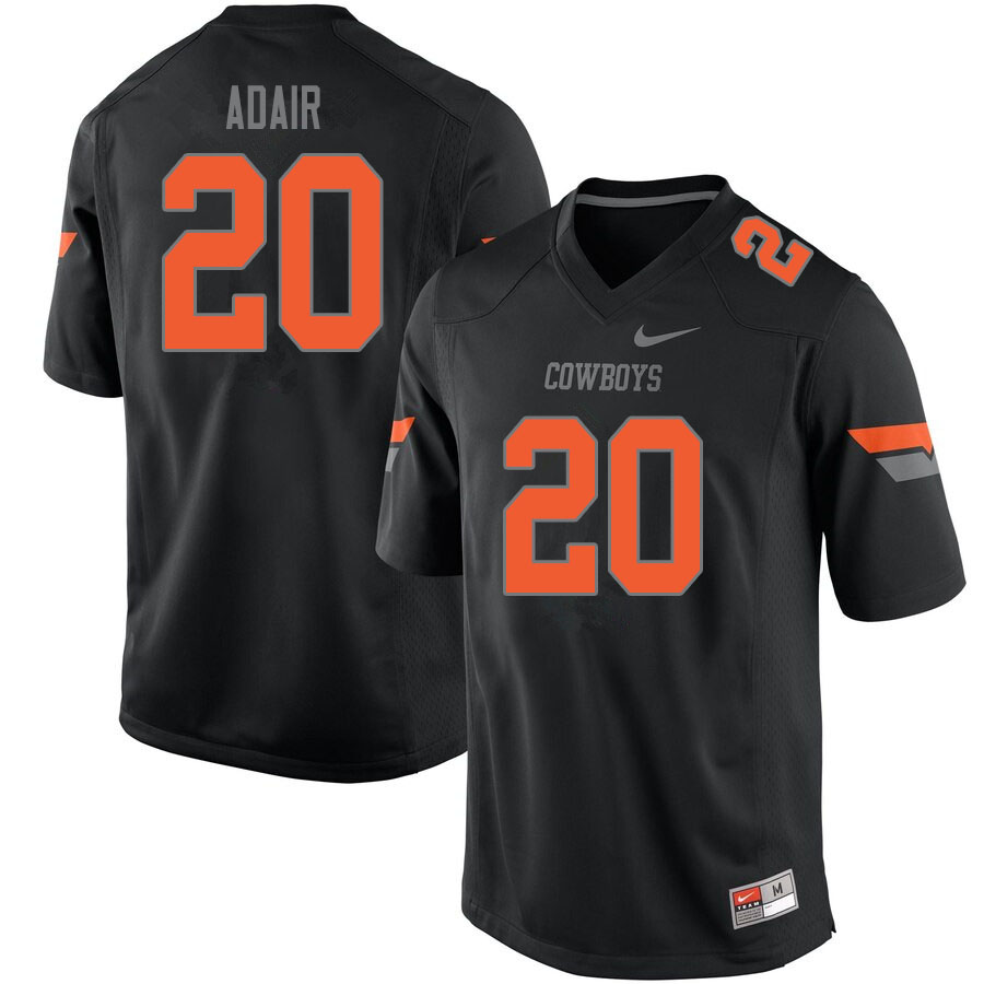 Men #20 Schyler Adair Oklahoma State Cowboys College Football Jerseys Sale-Black