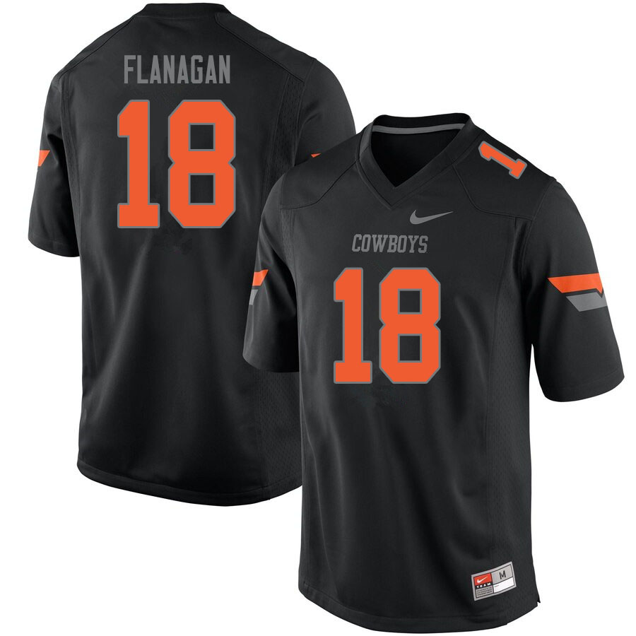 Men #18 Sean Michael Flanagan Oklahoma State Cowboys College Football Jerseys Sale-Black