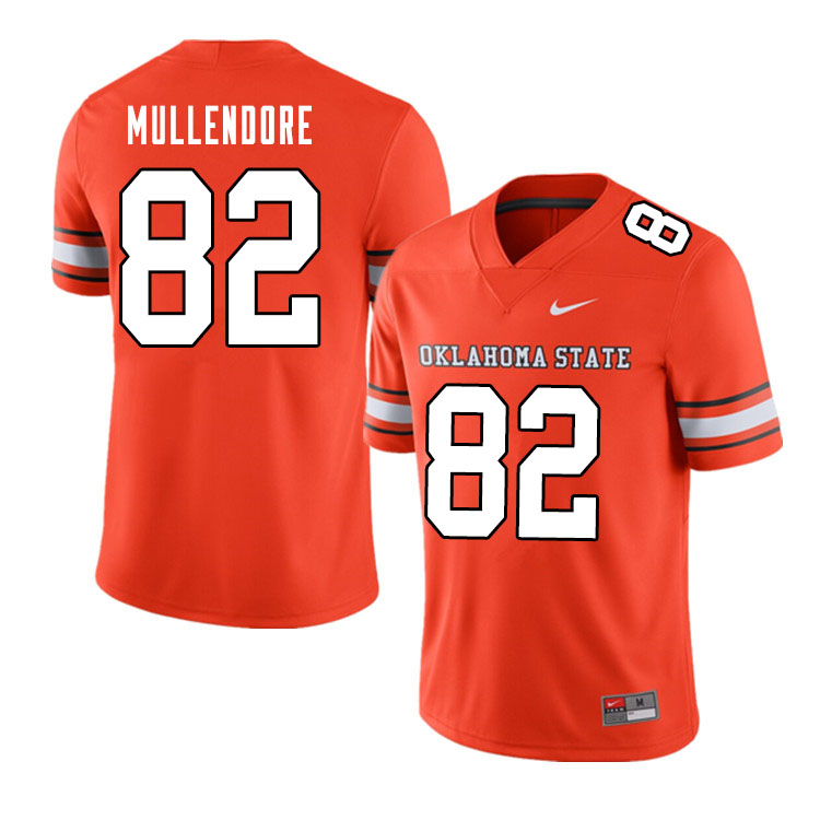 Men #82 Vance Mullendore Oklahoma State Cowboys College Football Jerseys Sale-Alternate Orange