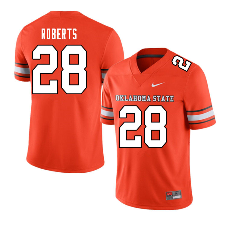 Men #28 Walker Roberts Oklahoma State Cowboys College Football Jerseys Sale-Alternate Orange
